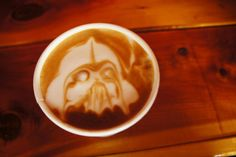 "Eat Like Locals on Instagram: ""May the force be with you. #eatlikelocals #eatlikelocalsinseattle #localeats #latte #latteart #darthvader #starwars #maytheforcebewithyou #seattle #washington #fremont #fremontcoffeecompany"""