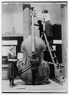 Largest Violin - Date Created/Published: (no date recorded on caption card) - Library of Congress. S)