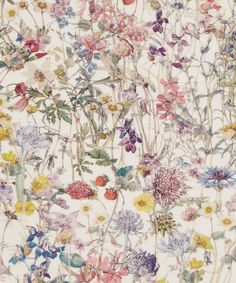 Wild Flowers Tana Lawn Cotton Wild Flowers by Su Blackwell is a recollection of early childhood journeys across the British landscape in discovery of native flora. Textures Patterns, Fabric Patterns, Print Patterns, Liberty Art Fabrics, Liberty Print, Textiles, Inchies, Lawn Fabric, Cotton Fabric