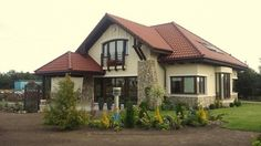 Constructie casa cu mansarda acoperita cu tigla Mocca, Gazebo, 1, Outdoor Structures, Cabin, Mansions, Interior Design, House Styles, Orice