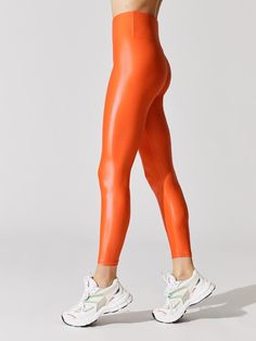 High Rise 7/8 Legging in Takara Shine Workout Attire, Sports Leggings, Workout Tops, Leather Pants, Fitness Outfits, Stylish, Clothes, Women, Fashion