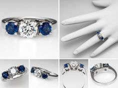 Diamond Engagement Rings With Sapphire Accents 22
