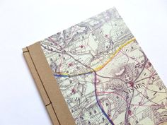 SALE  Map Notebook Hand Bound Journal by MintAfternoon on Etsy