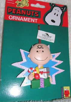 Peanuts Charlie Brown Holding Presents Wooden Christmas Ornament @ niftywarehouse.com #NiftyWarehouse #Peanuts #CharlieBrown #Comics #Gifts #Products