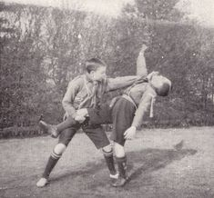 Early Boy Scouts were taught unarmed self defense and stick fighting techniques....
