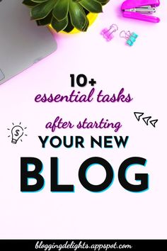 10+ Essential Tasks After Starting Your New Blog ... Did you just start your blog? These are must do's that you need right after starting your blog for successful blogging journey … blogging 101 , blogging for beginners , blogging tips #blogging101 #blogging #bloggingforbeginners #bloggingtips #bloggingdelights Make Money Blogging, Make Money Online, How To Make Money, 10 Essentials, Blogging For Beginners, News Blog, How To Start A Blog, Tips, Earn Money Online