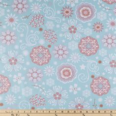 Spa & Coral Floral Apparel Fabric