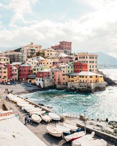 Boccadasse – a cute little fishing village attached to the city of Genoa, Italy - Travel Places To Travel, Travel Destinations, Places To Visit, Africa Destinations, Travel Photographie, Photos Voyages, Travel Aesthetic, Adventure Aesthetic, Aesthetic Outfit