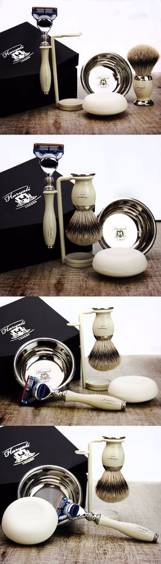 Shaving Brushes and Mugs: Shaving And Grooming Set |Gillette Fusion And Silvertip Badger Brush| Gift For Him -> BUY IT NOW ONLY: $64.99 on eBay!