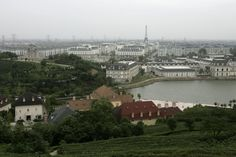 An aerial view of the ghost town Tianducheng, located on the outskirts of Hangzhou, Zhejiang Province