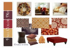 #Fall Color inspiration Dabble in Chic: Falling Back