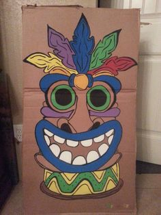 Tiki Mask Template Printable Tiki Masks Pinterest