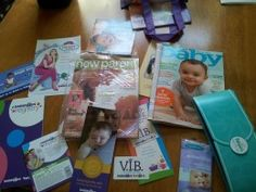 Tips: How to get baby stuff for free! Free samples from the Babies R' Us Registry gift bag, including the VIB card.