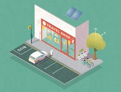 Travel Agent Dissected by Roland MacDonald, via Behance