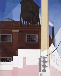 Charles Demuth (American, 1883-1935), …And the Home of the Brave, 1931. Oil and graphite on fiber board, 74.8 x 59.7 cm.