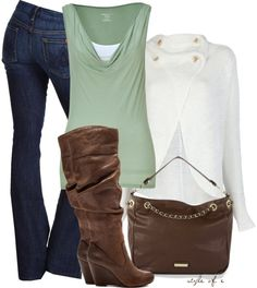 """Weekend Cardigan"" by styleofe on Polyvore"