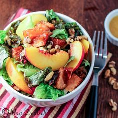 Nectarine and Salmon Salad