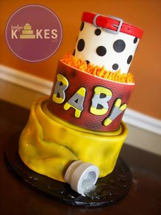 Birthday Themes For Men Guys Baby Shower Ideas Baby Shower Cakes, Baby Shower Parties, Baby Shower Themes, Baby Shower Decorations, Shower Ideas, Baby Shower For Men, Men Shower, Shower Baby, Firefighter Baby Showers
