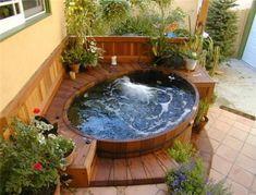 25 Best Backyard Whirlpool Deck Design Ideas To Relax Hot Tub Deck, Hot Tub Backyard, Hot Tub Garden, Backyard Patio, Small Garden Jacuzzi, Small Garden Hot Tub Ideas, Hot Tub Patio On A Budget, Hot Tub Gazebo, Inground Hot Tub