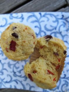 savory muffins with harissa, olives and roasted red pepper via @motherwouldknow