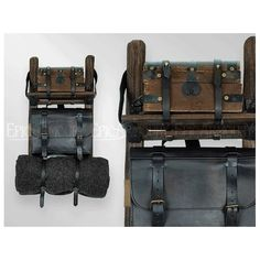 Black Leather Imperial Backpack - Epic Armoury Canada