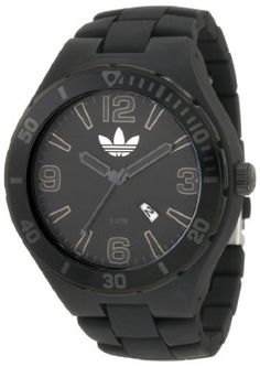 adidas originals Watches Melbourne (Black on Black) adidas Originals. $71.70. Black Solid Plastic with a Black and Gold Bezel. 3 handDate. Case Thickness: 13mm. Case Diameter: 50mm. Deployment Buckle. Save 25%!