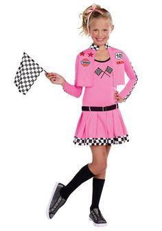 girls sweet racer costume 33 httpwwwhalloweencostumescomgirls