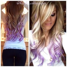 ❤ Wish I had the guts to put an unnatural color in my hair this looks so pretty.