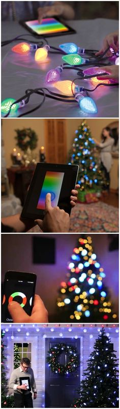 Create a dazzling Christmas spectacle for any occasion with the brilliant features of the LumenPlay App-Enabled Color Changing String Lights.