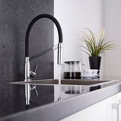 Durable & stylish kitchen taps and kitchen mixers. Browse a superb range of high-quality kitchen taps and get fast UK delivery from Big Bathroom Shop Black Kitchen Taps, Kitchen Mixer Taps, Sink Mixer Taps, Farmhouse Sink Kitchen, Kitchen Faucets, Bathroom Shop, Big Bathrooms, Bathroom Ideas, Quartz Countertops Cost