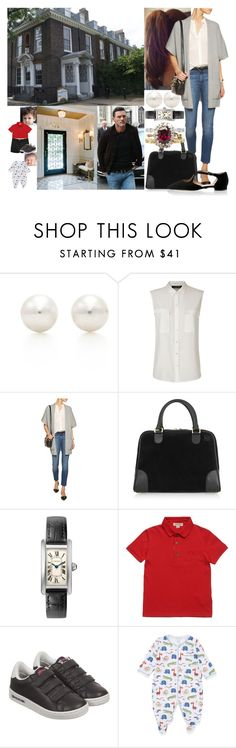 """""""Returning back to London in the morning and arriving at Kensington Palace"""" by marywindsor ❤ liked on Polyvore featuring Tiffany & Co., Jaeger, Autumn Cashmere, Loewe, Burberry and Kissy Kissy"""