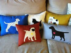 Chocolate Lab Love Applique Pillow by MFGood on Etsy