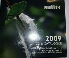 Audite Katalog & CD 2009 Mahler Sinfonie Nr.5  (2009) Neu / OVP
