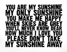 You Are My Sunshine Serigraph by Kyle & Courtney Harmon at Art.com $54.95