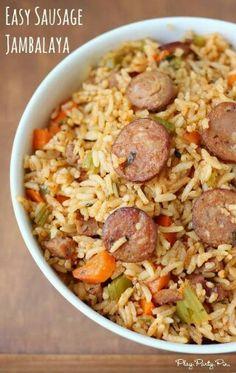 Easy Sausage Jambalya