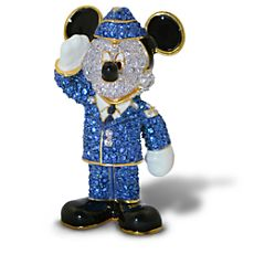 Air Force Mickey Mouse Figurine by Arribas - Jeweled $225