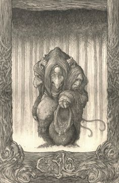 Grýla is a mythical giantess living in the mountains of Iceland. Most of the stories told about Gryla were to frighten children, and her name is mentioned in Snorri Sturluson's thirteenth century Edda.
