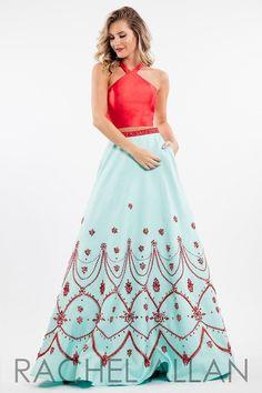 Rachel Allan 7533 Red/Mint Prom Dress