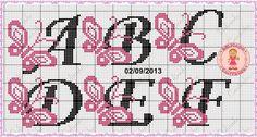 graficos de letras em ponto cruz turma da monica - Pesquisa Google