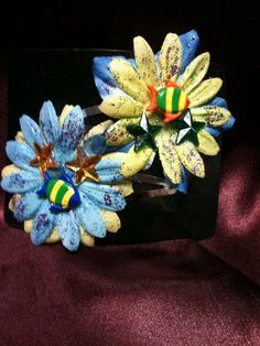 Set of two handmade hair clips, Fishes by the sea on Etsy, $3.00