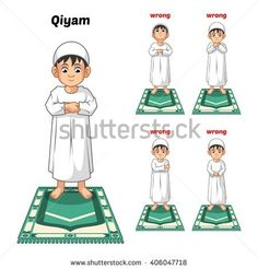 Muslim Prayer Position Guide Step by Step Perform by Boy Standing and Placing Both Hands with Wrong Position Vector Illustration Prayer Position, Pillars Of Islam, Islam For Kids, Prayers For Children, Muslim Family, Islamic Prayer, Islam Religion, Kids Icon, Prayers