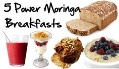 5 Power Moringa Breakfasts.Breakfast is important for recharging the body and #brain and providing #energy to start the day