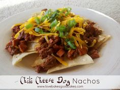 Chili Cheese Dog Nachos by lovebakesgoodcakes, via Flickr