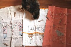vintage laundry bag embroidery designs chinese - Google Search: Ilovecollecting10.blogspot.com
