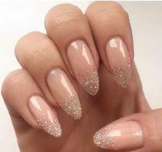 nude nails with glitter - Recherche Google