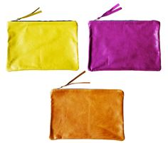 Italian leather pouch