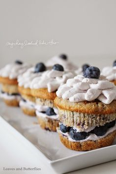 Blaubeer-Cupcakes mit Mascarpone-Creme