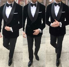 Males Black Velvet Double Breasted Go well with Groom Tuxedo Formal Marriage ceremony Go well with Customized - Best Suit's Black Tuxedo Wedding, Groom Tuxedo Wedding, Wedding Tuxedos, Groomsmen Tuxedos Black, Prom Tuxedo, Formal Tuxedo, Bride Groom, Dress Suits For Men, Men Dress