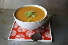 Carrot Curry Soup just replace the butter with coconut oil and it comes out dank