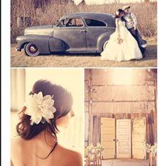 Vintage wedding theme.. Love it!